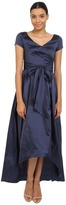 Adrianna Papell 81917430 Ruched Taffeta High-Low Gown