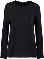 Theory Malydie silk crepe de chine top