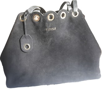 Claudie Pierlot Navy Suede Handbags