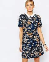 Oasis Floral Collar Shift Dress