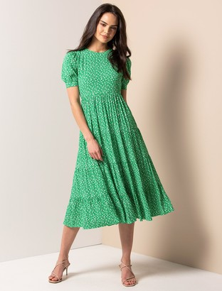 Forever New Betty Printed Midi Dress - Jade Mini Vine Ditsy - 4