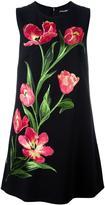 Dolce & Gabbana embroidered tulip shift dress