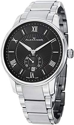 Alexander Men's Analogue Quartz Watch with Stainless Steel Strap A102B-02