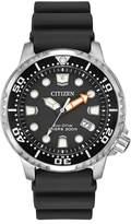 Citizen Eco-Drive Divers Black Dial Black Polyurethane Mens Watch