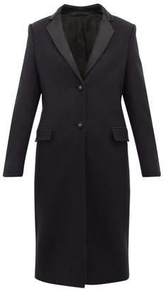 Officine Generale Eden Virgin Wool Blend Overcoat - Womens - Navy