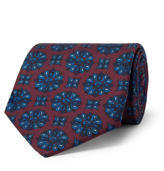 E.MARINELLA - 8.5cm Floral-Print Silk-Twill Tie - Men - Red