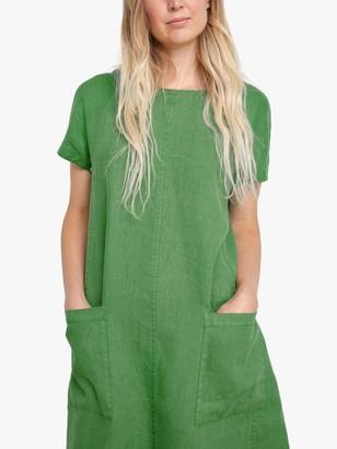 Seasalt Levelling Linen A-Line Dress, Green