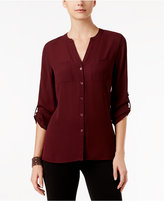 INC International Concepts Mixed-Media Blouse, Only at Macy's