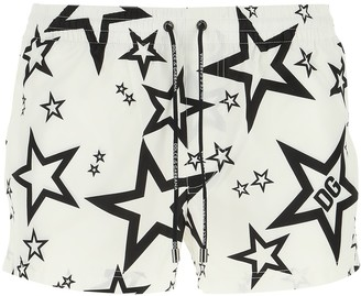 Dolce & Gabbana Allover Star Print Swim Shorts