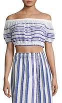 Lemlem Lulu Stripe Off-The-Shoulder Top
