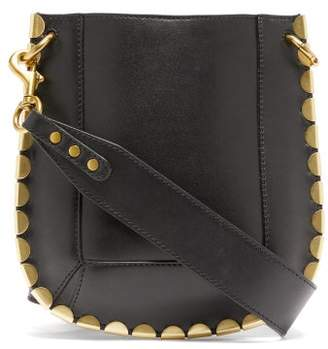 Isabel Marant Nasko Mini Scalloped Trim Cross Body Bag - Womens - Black Gold