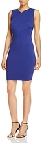 Cupcakes And Cashmere Auburn Crossover Bodice Sheath Dress