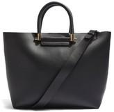 Topshop Simona Faux Leather Shopper - Black