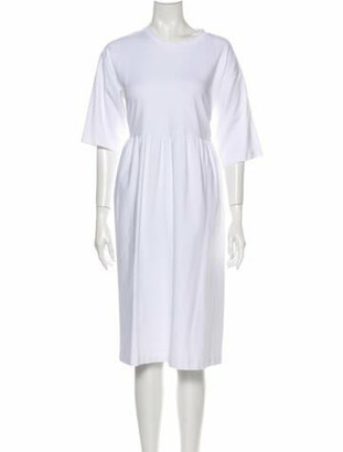Sofie D'hoore Crew Neck Knee-Length Dress White