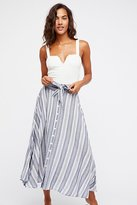 Free People Pocket Full Of Rainbow Midi Skirt