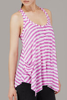 Distressed Stripe  Racerback Tank