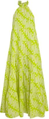 Rhode Resort Julia Tiered Floral Midi Dress