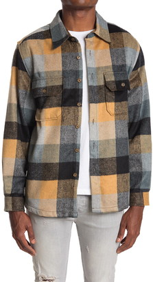 7 Diamonds Collines Buffalo Plaid Flannel Trim Fit Shirt