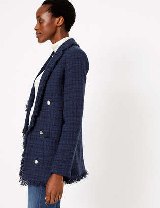 Marks and Spencer Tweed Longline Blazer