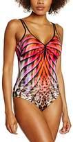Sunflair Women's Badeanzug Flaming Tiger Swimsuits,48B