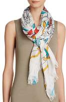 Fraas Sketched Tribal Print Scarf