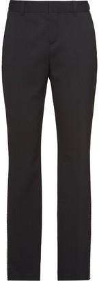 Miu Miu Crystal-Embellished Tailored Trousers