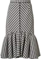 Tome pleated trim checked skirt
