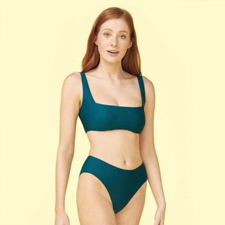 Summersalt The High Leg Mid Rise Bikini Bottom - Seaweed