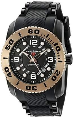 Swiss Legend Men's Analogue Quartz Watch with Silicone Strap SL-10069-BB-01-RBA