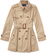 Ralph Lauren 7-16 Cotton Swing Trench Coat