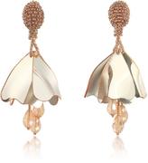 Oscar de la Renta Mini Impatiens Flower Drop Earrings