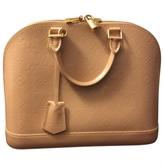 Louis Vuitton Pink Patent leather Handbag Alma