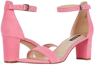 Nine West Pruce Block Heeled Sandal (Hot Pink) Women's Shoes