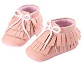 Binmer(TM) Baby Tassels Shoes Toddler Soft Sole Sneakers Casual Shoes (6~12 Month, Pink)