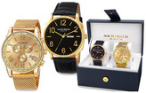 Akribos XXIV Men's Watch Gift Set