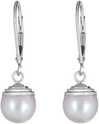 BELPEARL 14K 8-9Mm Freshwater Pearl Earrings