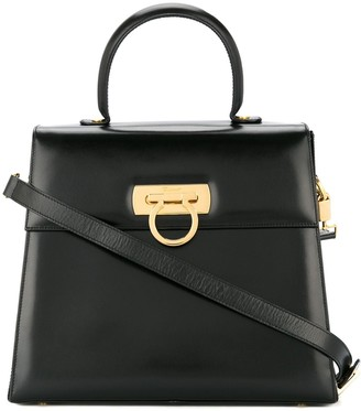Salvatore Ferragamo Pre Owned Gancini 2way hand bag