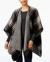 Steve Madden Twill Plaid Reversible Cape