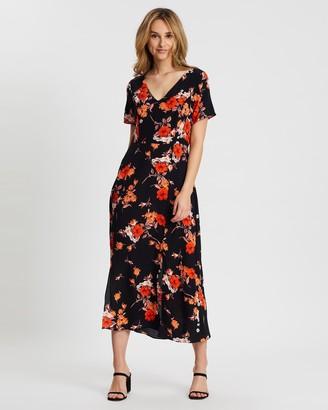 Wallis Ditsy Bloom Split Front Midi Dress