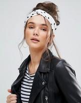 Pia Rossini Polka Dot Tie Oblong Headband