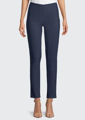 Lela Rose Catherine Slim-Leg Ankle Pants