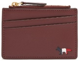 MAISON KITSUNÉ Zip-fastening grained-leather cardholder