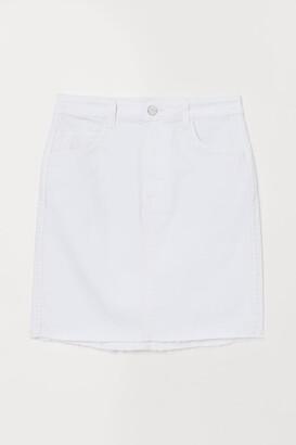 H&M Short Denim Skirt - White