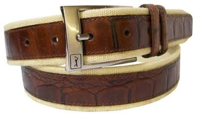 PGA TOUR Men's Canvas And Leather Casual Belt