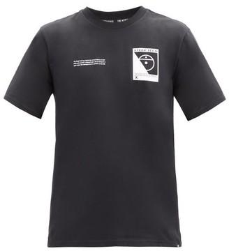 The North Face Steep Tech-print Cotton-jersey T-shirt - Black