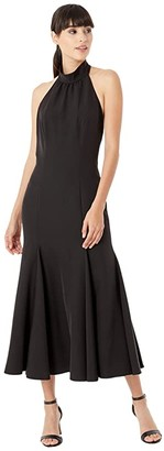 Milly Cady Penelope High Neck Dress (Black) Women's Clothing