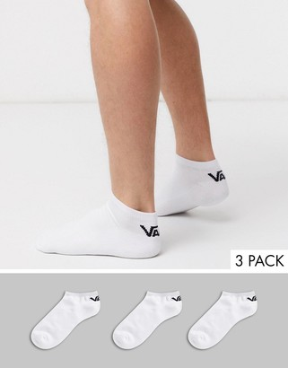 Vans Classic Low 3-pack sock in white