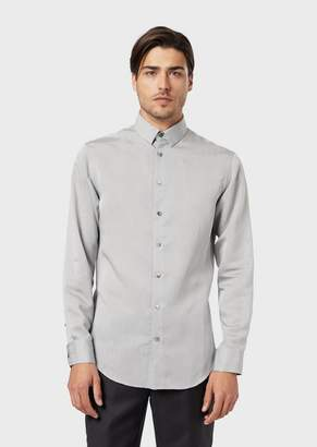 Giorgio Armani Slim-Fit Shirt In Exclusive Striped Fabric