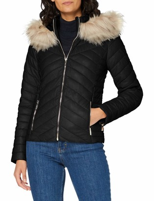 Morgan Women's Doudoune Pu Capuche Geo Down Coat