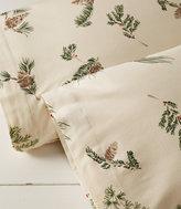 L.L. Bean Ultrasoft Comfort Flannel Pillowcases, Evergreen Set of Two
